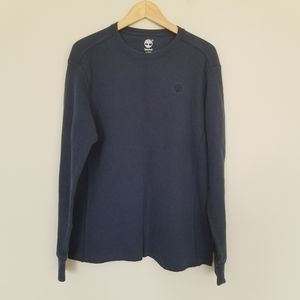 Timberland dark blue crew neck thermal shirt XL